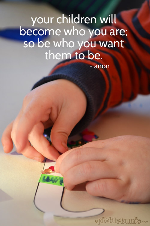 Be a role model for your little one