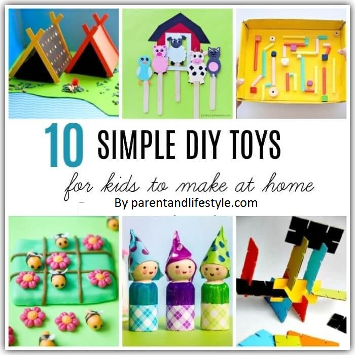 Learn how to make these 10 easy DIY toys at home for the kids