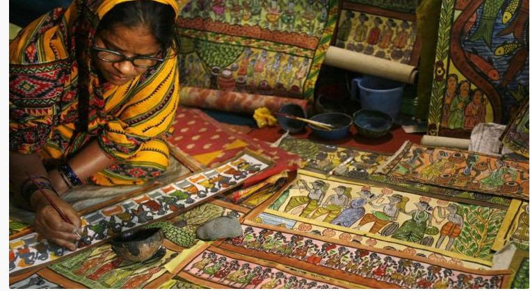 Handcrafted goods by Indian women